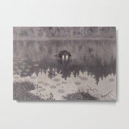Nokken Theodor Kittelsen Metal Print