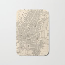 Vintage Map of Belfast Ireland (1851) Bath Mat