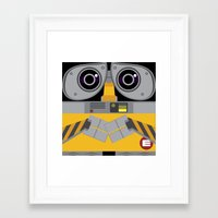 wall e Framed Art Prints featuring Wall-E by Sam Del Valle