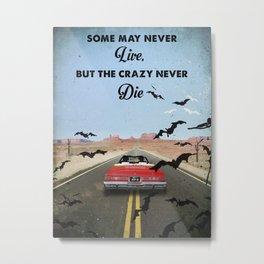 Fear and loathing las Vegas travel movie art Metal Print