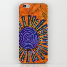 Orange and purple Floral batik iPhone & iPod Skin