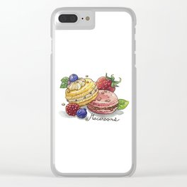 Macaroons Clear iPhone Case