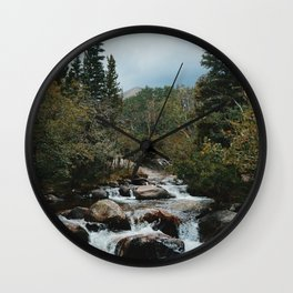 Rocky Mountain river Wall Clock