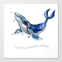 Whale Artowrk, Humpback Whale Canvas Print