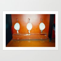 bathroom Art Prints featuring Bathroom by neil aline