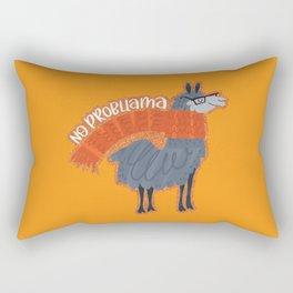 No Probllama Rectangular Pillow
