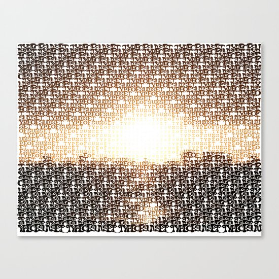 Type of Sunset Canvas Print