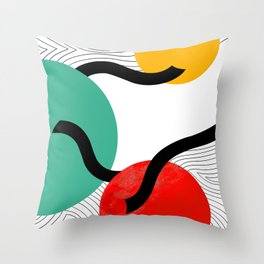 Circle and line Throw Pillow