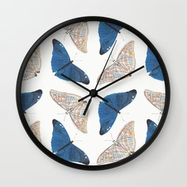 Butterfly Collage II Wall Clock