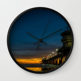 Moon Over Zero Wall Clock