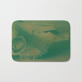Cow Skull Polaroid Bath Mat