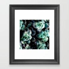 Succulent PATTERN IV Framed Art Print
