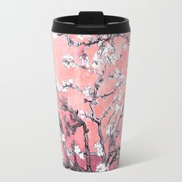 Van Gogh Almond Blossoms : Peachy Pink Travel Mug