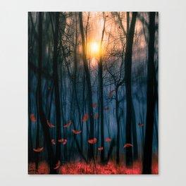 Red feather dance  (colour option) Canvas Print