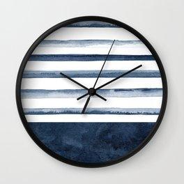 Watercolor Stripes Pattern Wall Clock