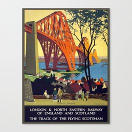 Vintage poster - Forth Bridge Canvas Print