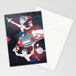 Rocket Christmas Stationery Cards