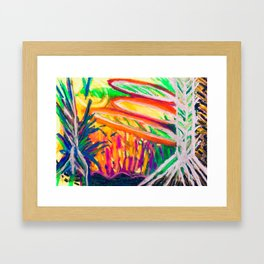 Sunsetting behind the Thicket Framed Art Print