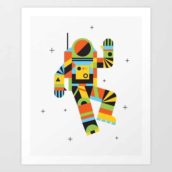 Hello Spaceman Art Print