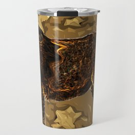 king Lion digital art  brown savana Travel Mug