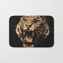 Vintage Tiger in black Bath Mat