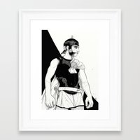 soldier Framed Art Prints featuring Soldier by shugmonkey
