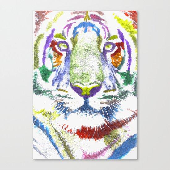 ROAR (tiger color version) Canvas Print