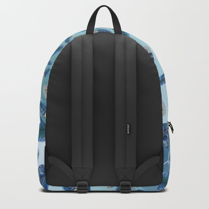 """Blue feathers flying in the air"" Backpack"