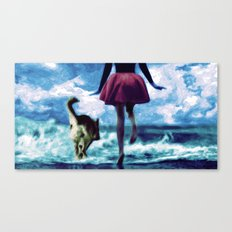 Race to the Sea Canvas Print