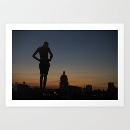 Giant in the city Art Print
