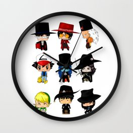 Anime Hatters Wall Clock