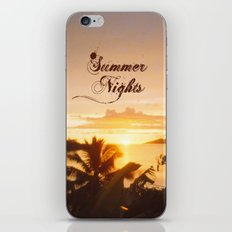 Summer Nights iPhone & iPod Skin