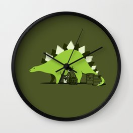 Crude oil comes from dinosaurs Wall Clock