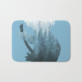 Misty Forest Koala Bear - Blue Bath Mat