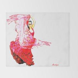 Bailarina Española ( Spanish Dancer ) Throw Blanket