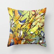 16 Birds Throw Pillow