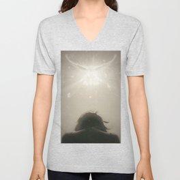 A blinding light Unisex V-Neck
