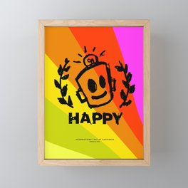 International Day of HAPPINESS Framed Mini Art Print