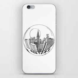 the city of New York in a suspended bowl iPhone Skin