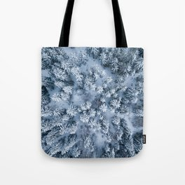 Winter Pine Forest Tote Bag