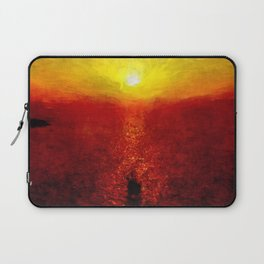 santorini sunset Laptop Sleeve