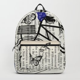 Bicycle and butterflies Backpack