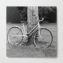 Old Bicycle Metal Print