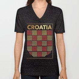 Croatia Unisex V-Neck
