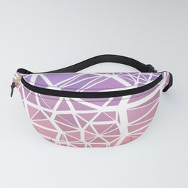Pink and Purple Low Poly Stained Glass Mosaic Gradient Fanny Pack