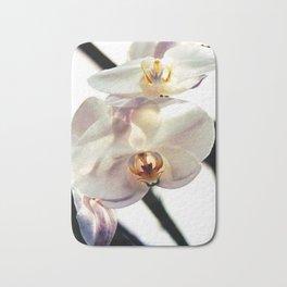 White Orchids Bath Mat