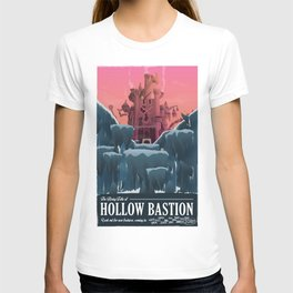 Hollow Bastion (Kingdom Hearts) Travel Poster T-shirt