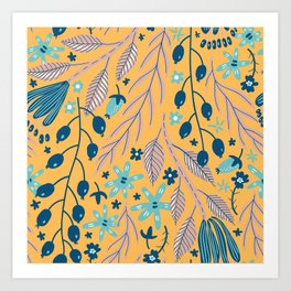 Autumn - Plants Hanging From The Ceiling Art Print