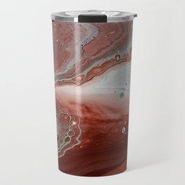 Brown Fluid Marble Abstract Travel Mug