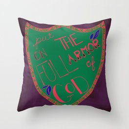 His Armor Throw Pillow